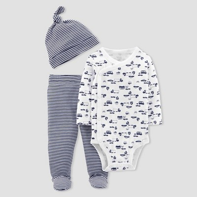Baby Boys' 3pc Cars Bodysuit and Pants Set - Just One You® made by carter's Navy NB