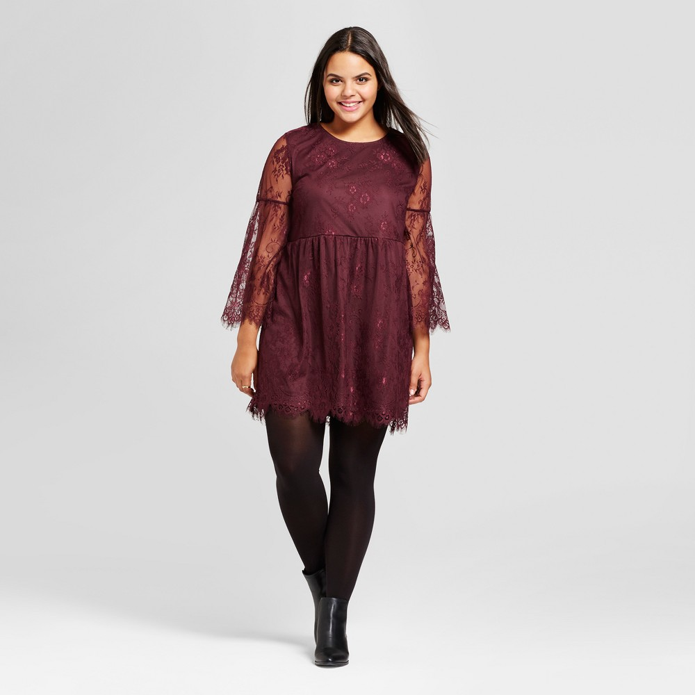 Women's Plus Size Scallop Lace A-Line Dress - No Comment ...