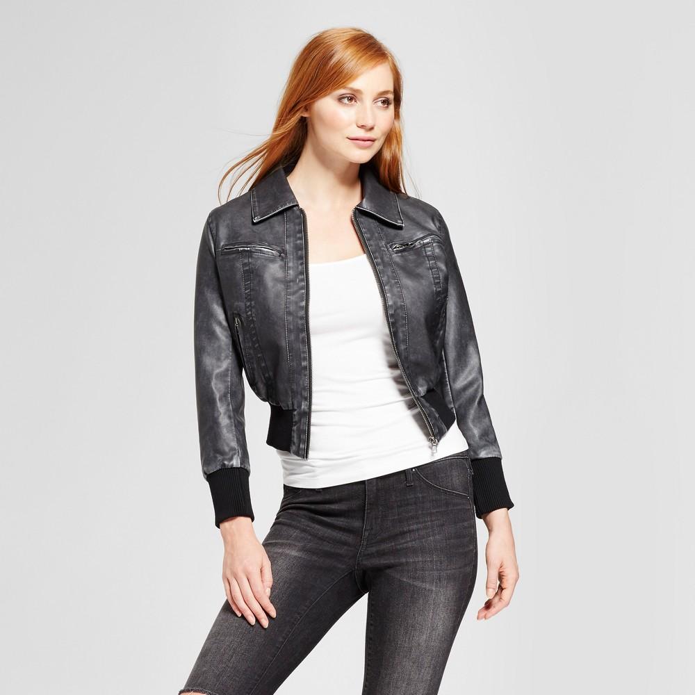 Womens Vegan Leather Jacket - K by Kersh Black M