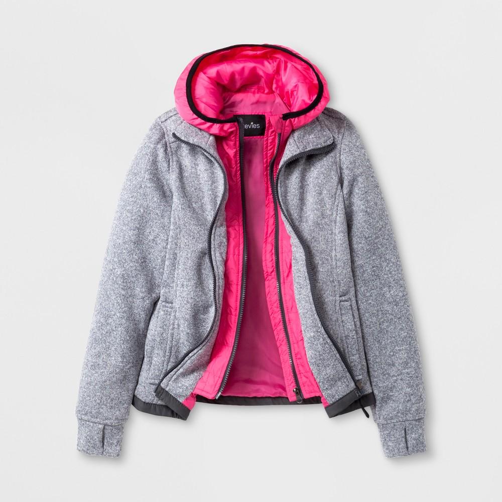 Stevies Girls Fleece Jacket - Gray M