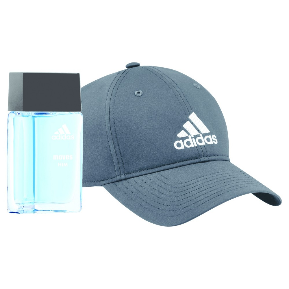Adidas Moves For Him by Adidas Men's Fragrance Gift Set - 2pc Find Fragrances at Target.com! Adidas Moves for Him is an energetic fragrance. It is invigorating, stimulating and crisp for all the ways you play. Top notes of the men's fragrance include fresh green apple, anise, Italian parsley, peppermint, mandarin and black peppercorn. Heart notes include cedarwood, musk, lavender and jasmine. Base notes include muguet, sandalwood, oak moss and thyme. Gender: Male.