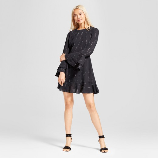 Image result for who what wear Women's Tiered Ruffle Cuff Mini Dress