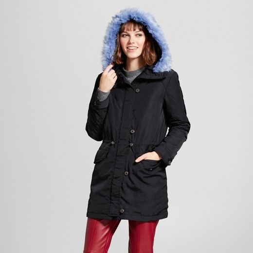 Women's Faux Fur Trim Parka - Who What Wear™ : Target