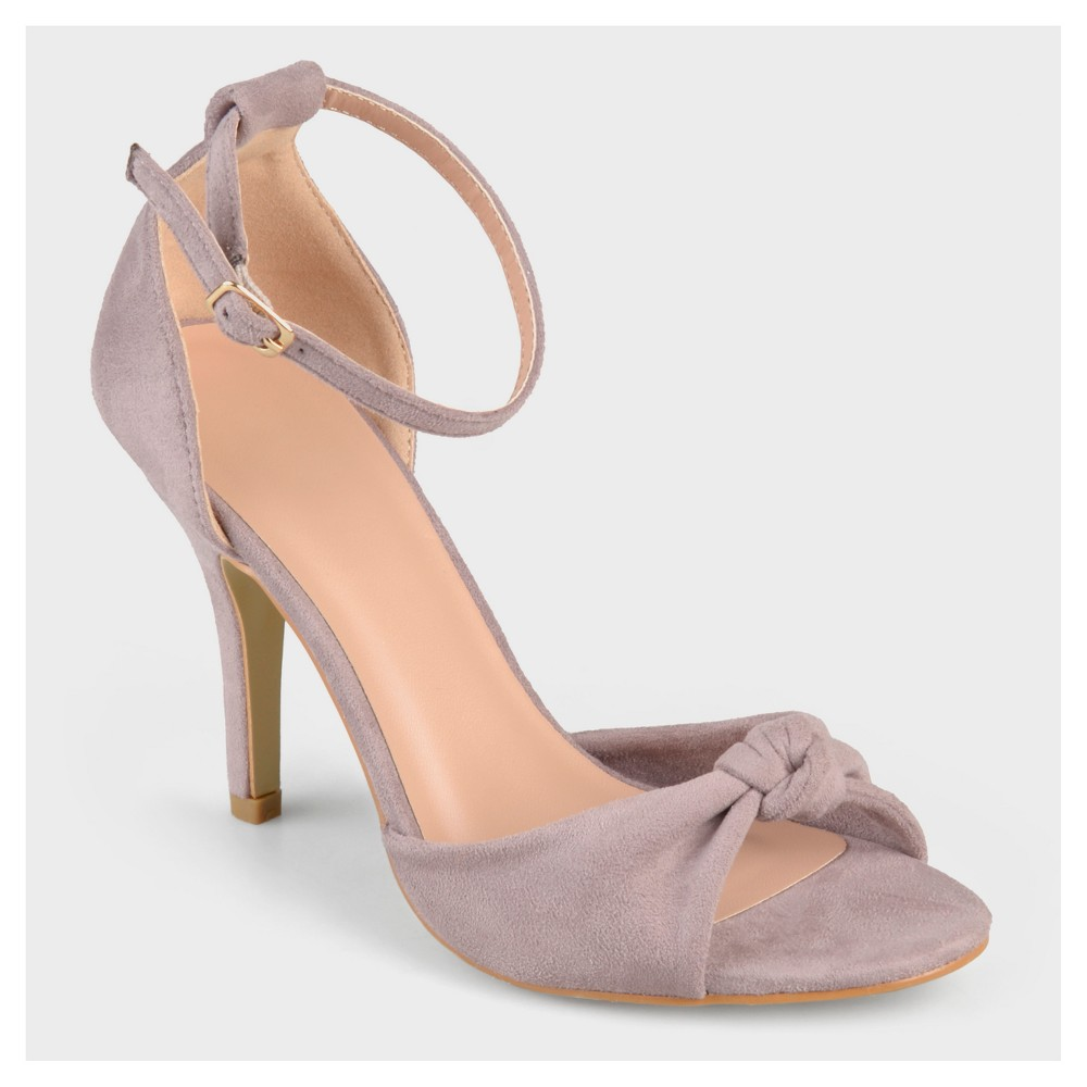 Womens Journee Collection Ankle Strap Knot High Heels - Pink 8