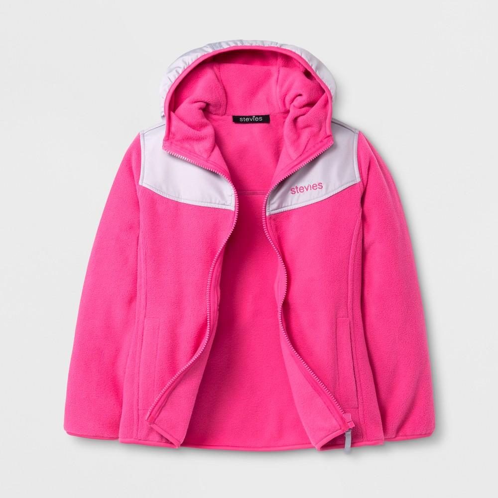 Stevies Girls Fleece Jacket - Pink L