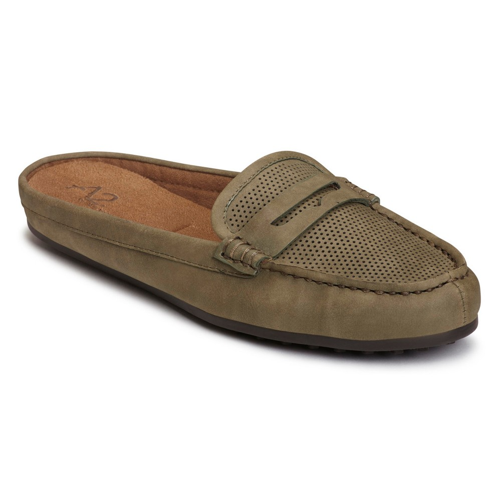 Womens A2 by Aerosoles Drive Time Mules - Green 10.5