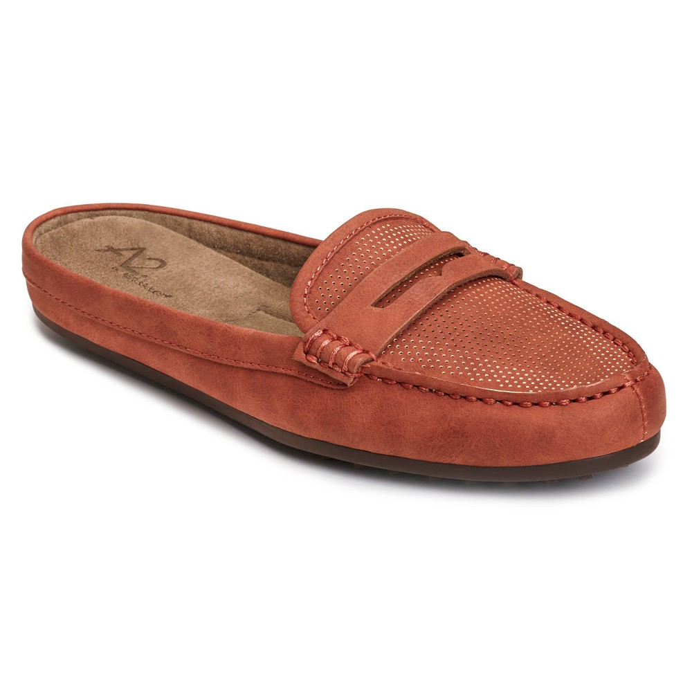 Womens A2 by Aerosoles Drive Time Mules - Orange 9.5