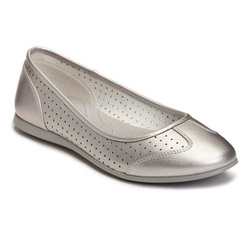 Womens A2 by Aerosoles Papaya Ballet Flats - Silver 8.5