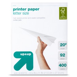 Printer Paper Letter Size 20lb White - up & up™
