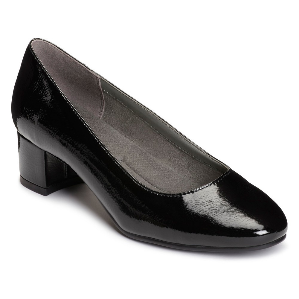 Womens A2 by Aerosoles Notepad Patent Pumps - Black 8.5