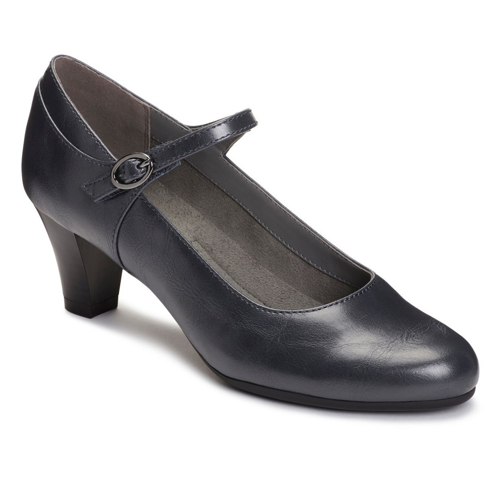 Womens A2 by Aerosoles For Shore Wide Width Mary Jane Shoes - Navy (Blue) 8.5W, Size: 8.5 Wide