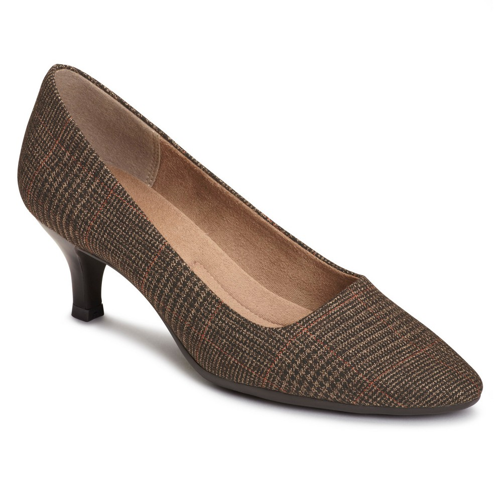 Womens A2 by Aerosoles Foreward Plaid Pumps - Brown 8.5