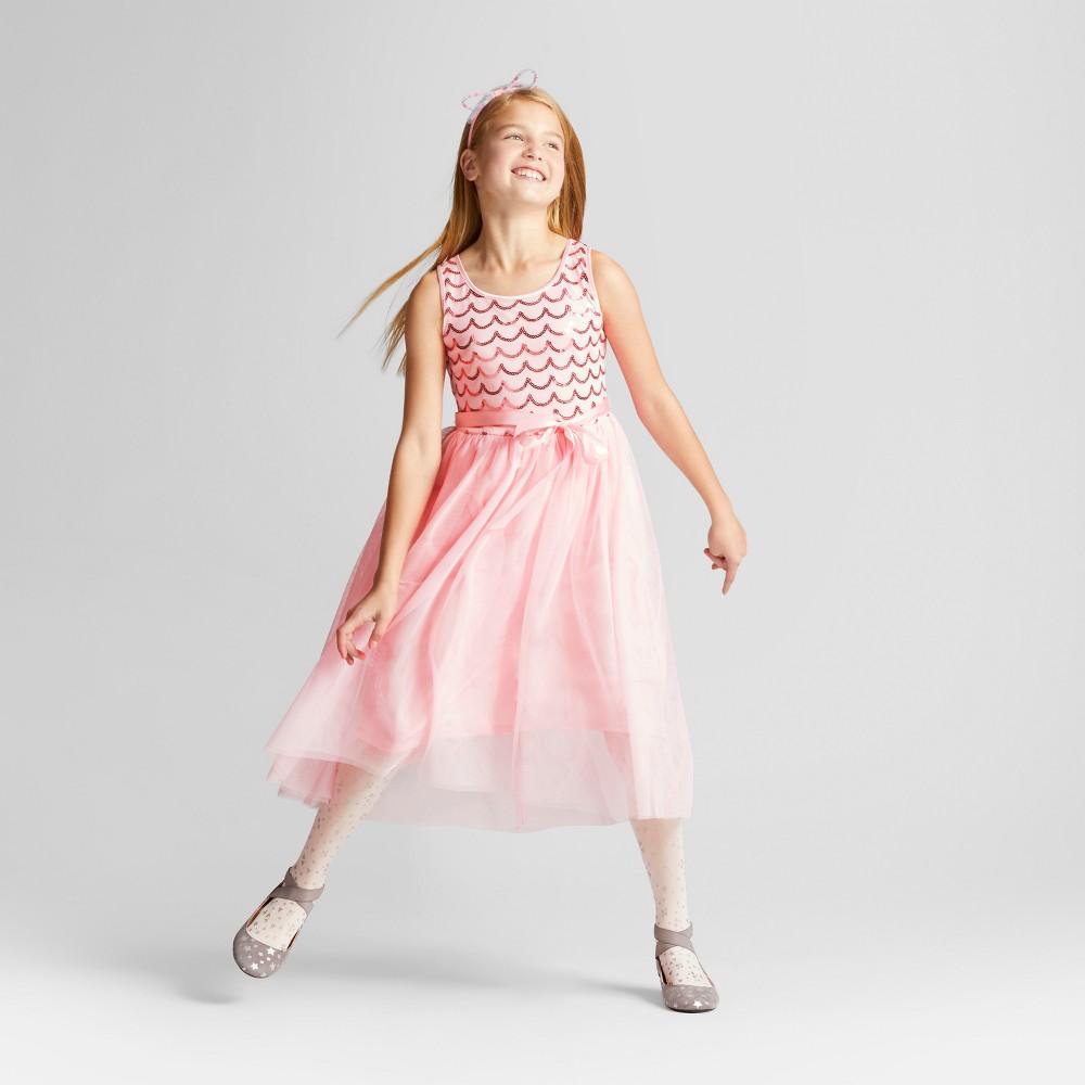 Girls Sequins Hi-Low Dress - Cat & Jack Pink M