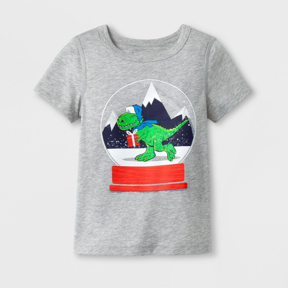 Toddler Boys Adaptive Short Sleeve T-Shirt - Cat & Jack Heather Gray 3T