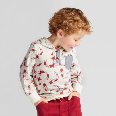 Toddler Boys' Genuine Kids™ from OshKosh® Printed Hoodie - Off White - 18 M