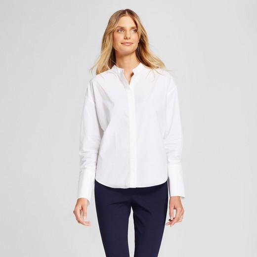 Women's Mandarin Collar Shirt - A New Day™ White : Target