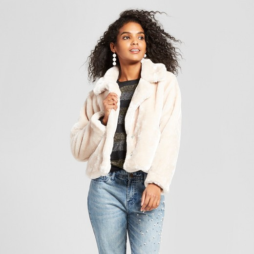 Women's Faux Fur Coat - Who What Wear™ : Target