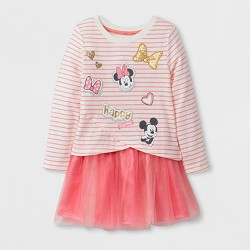 Toddler Girls' Minnie Mouse Tutu Skirt Set - Light Pink