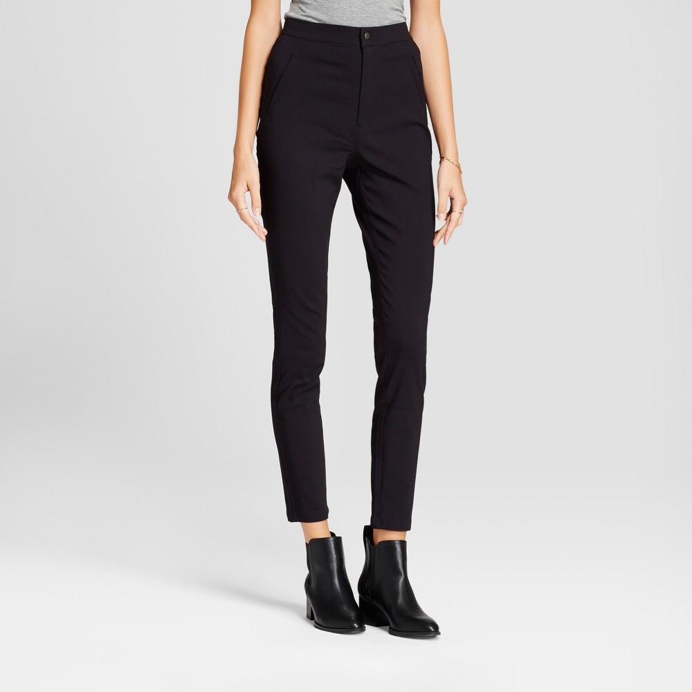 Womens Super Skinny High Waist Pants - A New Day Black 16