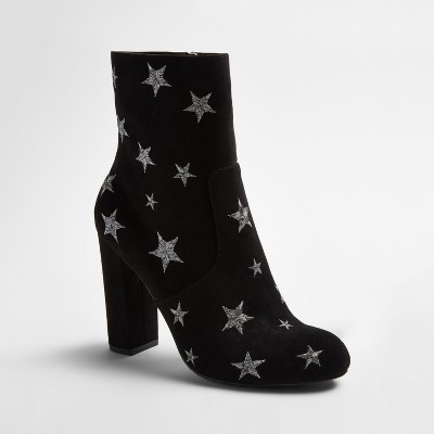 view Women's Corrine Embroidered Star Booties - Mossimo Supply Co. on target.com. Opens in a new tab.