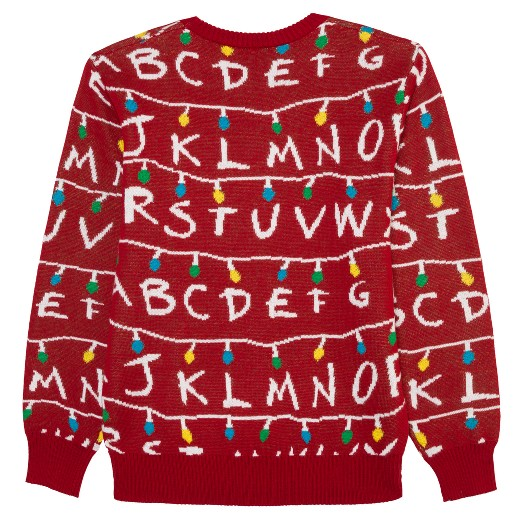 Men's Big & Tall Stranger Things Ugly Holiday Light-Up Sweater ...