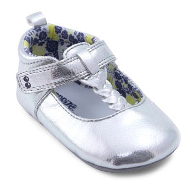 Baby Girls' Surprize by Stride Rite Sparkle Mary Jane Soft Sole Shoes - Silver 12-18M