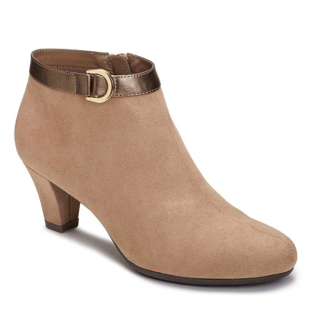 Womens A2 by Aerosoles Shore Enough Booties - Taupe (Brown) 6.5