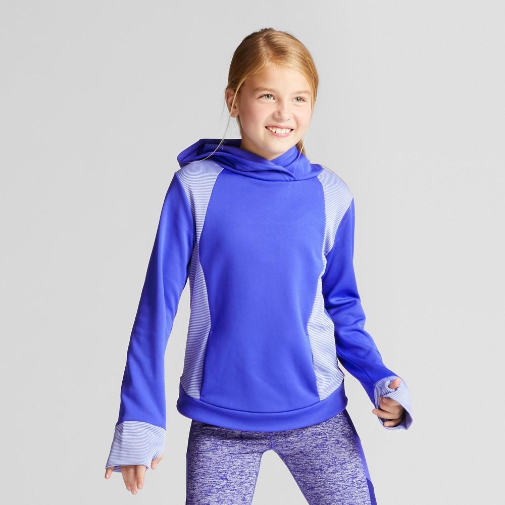 Girls' Pullover Striped Tech Fleece - C9 Champion Steel Blue XL