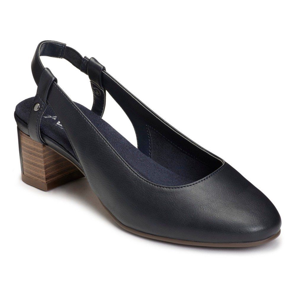 Womens A2 by Aerosoles Track Pad Pumps - Navy (Blue) 7.5