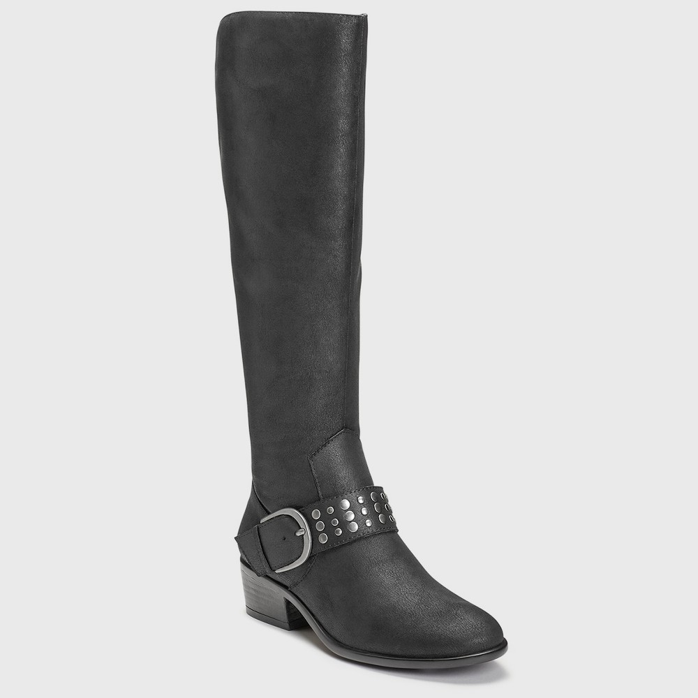 Womens A2 by Aerosoles Palmyra Wide Width Knee High Boots - Black 10W, Size: 10 Wide