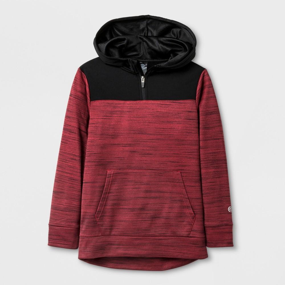 Boys' 1/4 Zip Tech Fleece Pullover - C9 Champion Scarlet Heather M