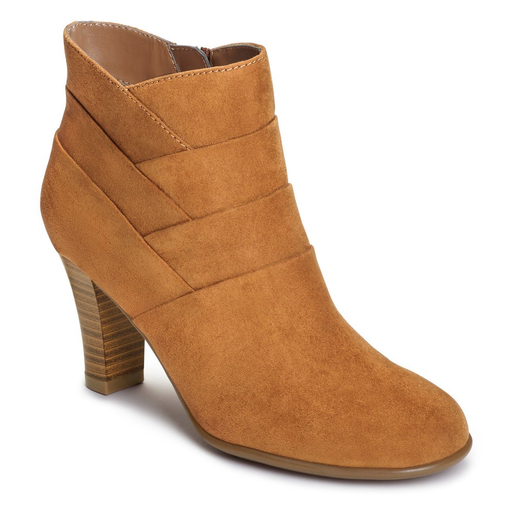 Womens A2 by Aerosoles Best Role Wide Width Ankle Boots - Tan 7.5W, Size: 7.5 Wide