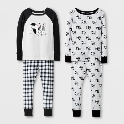 Baby Tight Fit Dog Cotton Pajama Set - Cat & Jack™ Gray 12M