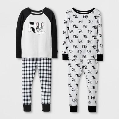 Baby Boys' Tight Fit Dog Cotton Pajama Set - Cat & Jack™ Gray 12M