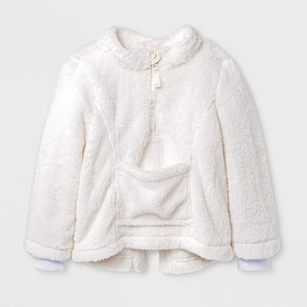 Toddler Girls Adaptive Jacket - Cat & Jack Almond Cream 5T, White