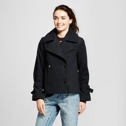 Women's Boxy Femme Pea Coat- Who What Wear™ Black : Target