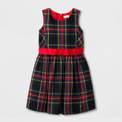 Girls' Tartan Classic A Line Dress Plaid - Cat & Jack™ Wowzer Red