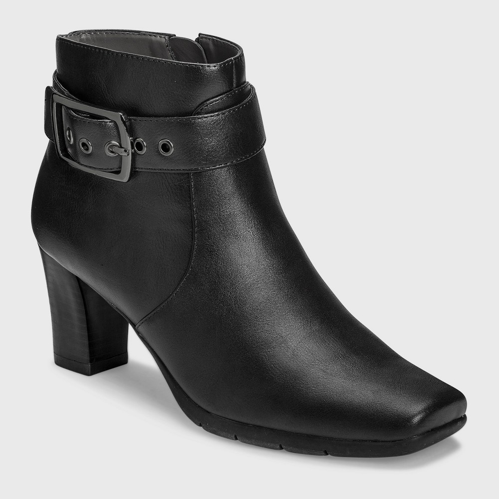 Womens A2 by Aerosoles Monorail Ankle Boots - Black 8.5