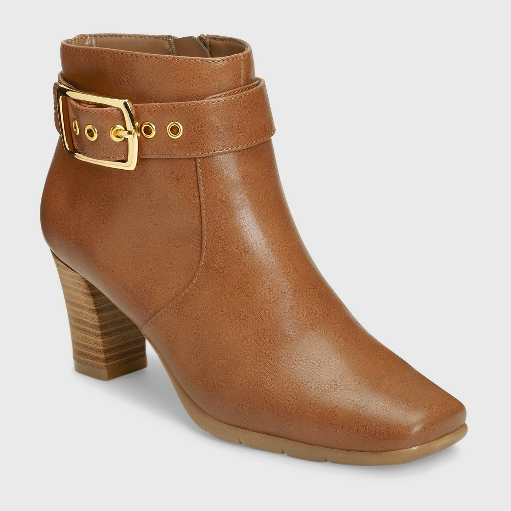 Womens A2 by Aerosoles Monorail Ankle Boots - Dark Tan 7