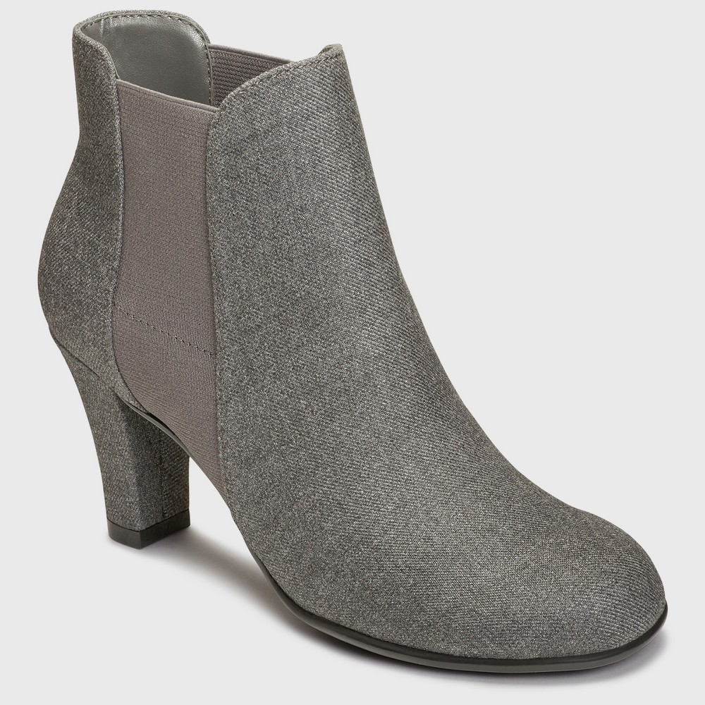 Womens A2 by Aerosoles Strole Along2 Wide Width Booties - Gray 9.5W, Size: 9.5 Wide