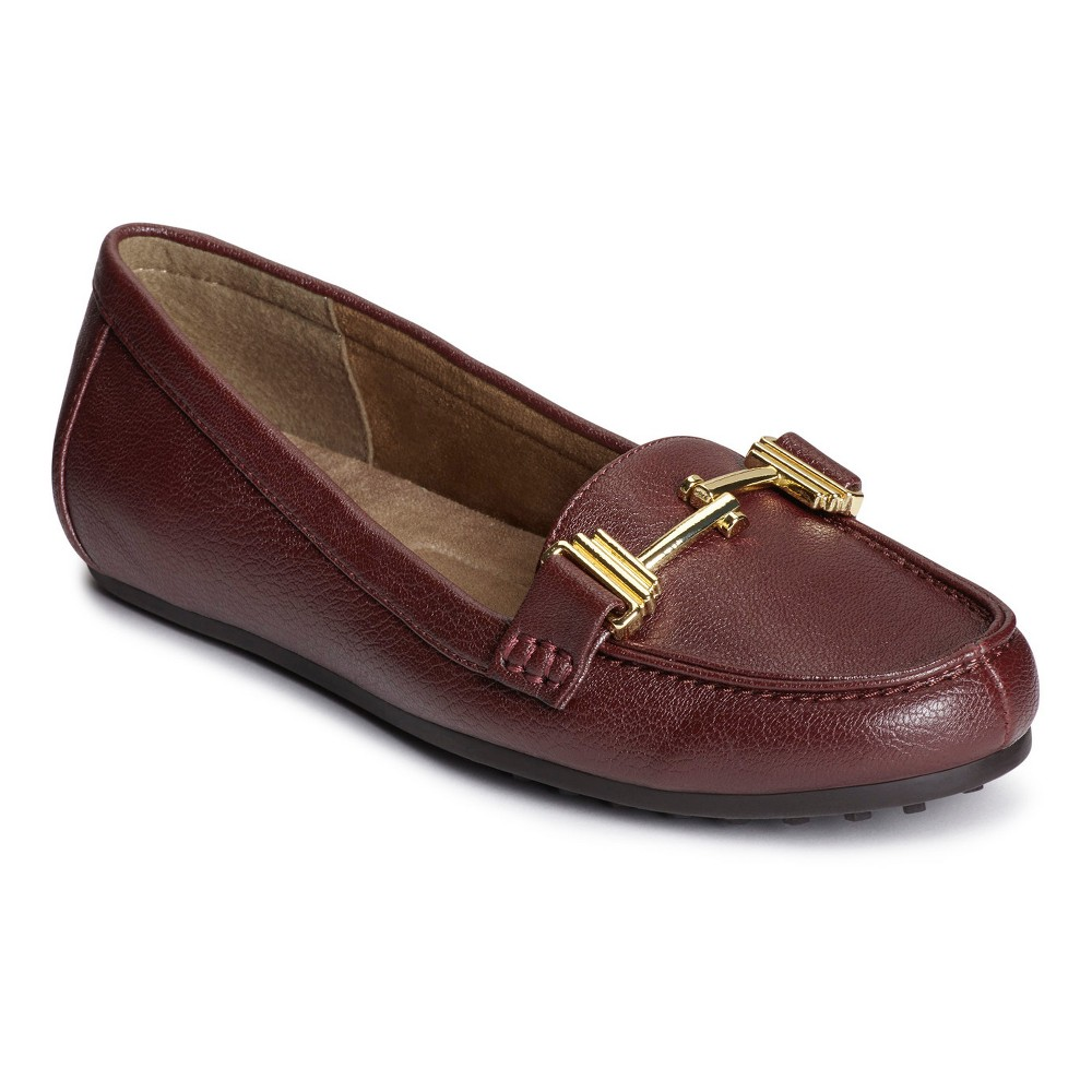 Womens A2 by Aerosoles Test Drive Wide Width Loafers - Wine (Red) 6W, Size: 6 Wide