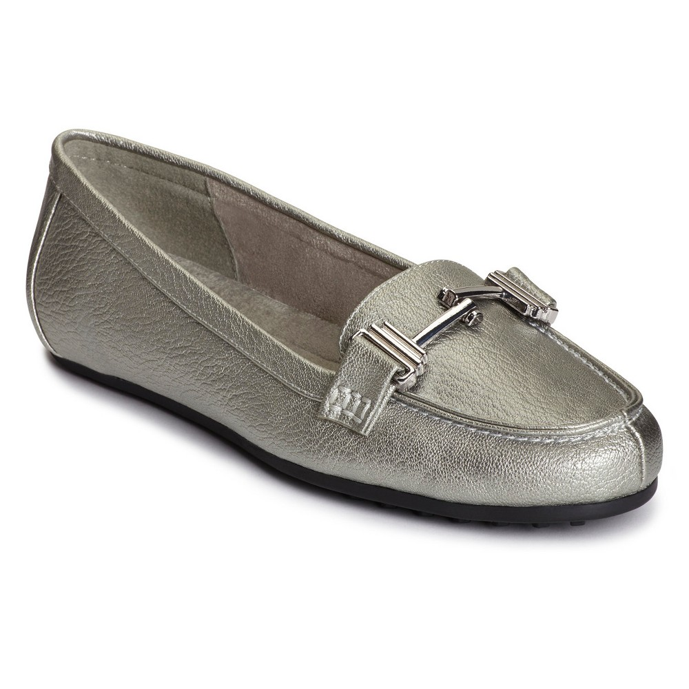 Womens A2 by Aerosoles Test Drive Loafers - Dark Silver 5