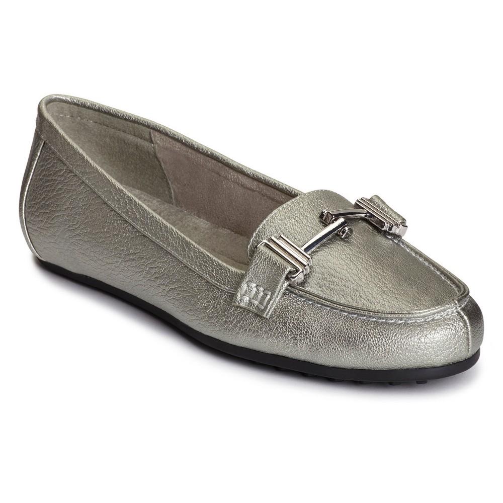 Womens A2 by Aerosoles Test Drive Wide Width Loafers - Dark Silver 8.5W, Size: 8.5 Wide