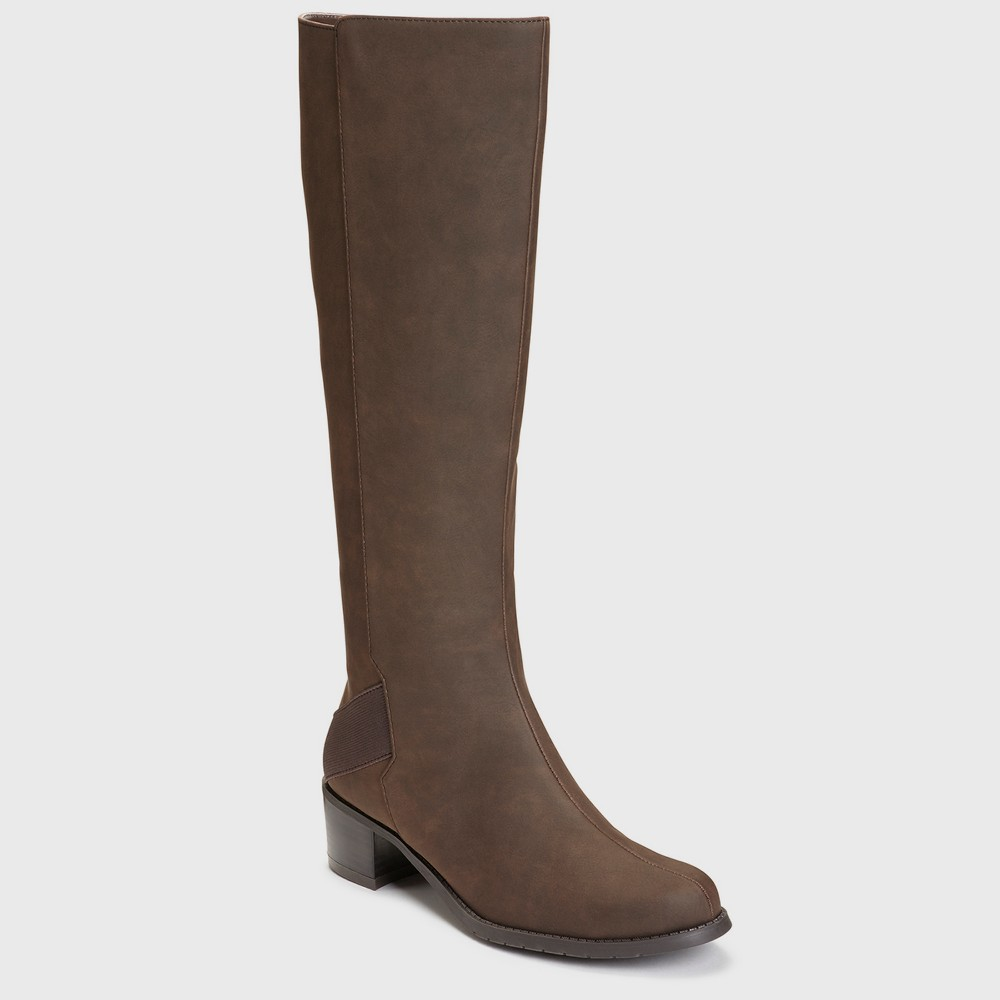Womens A2 by Aerosoles Craftwork Wide Width Knee High Boots - Brown 6.5W, Size: 6.5 Wide