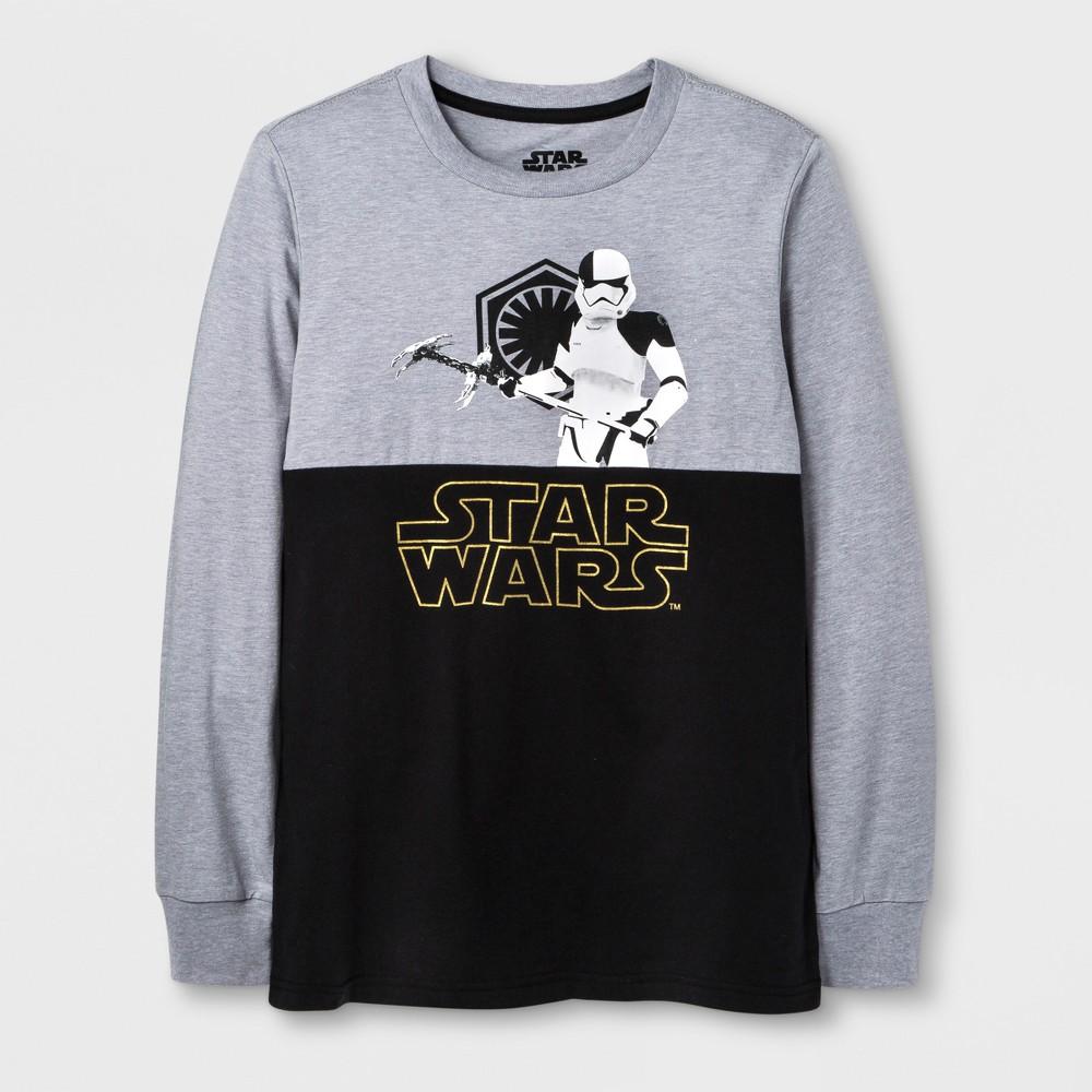 Boys Long Sleeve T-Shirt Star Wars Heather Gray L