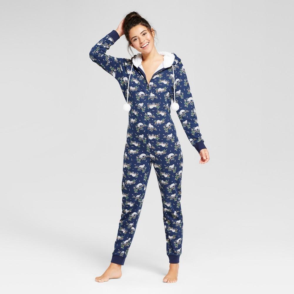 Womens Union Suits Pajama Drama S Navy, Blue