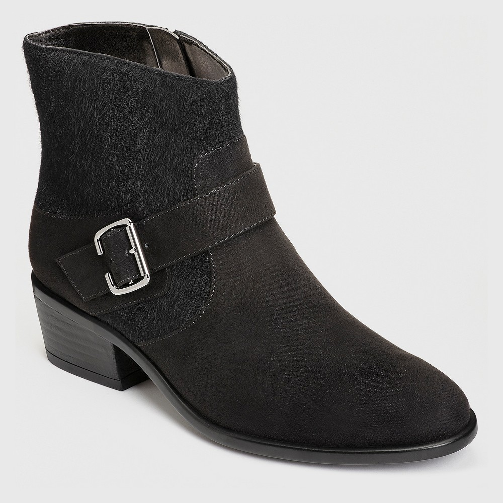 Womens A2 by Aerosoles My Way Ankle Boots - Midnight Black 8