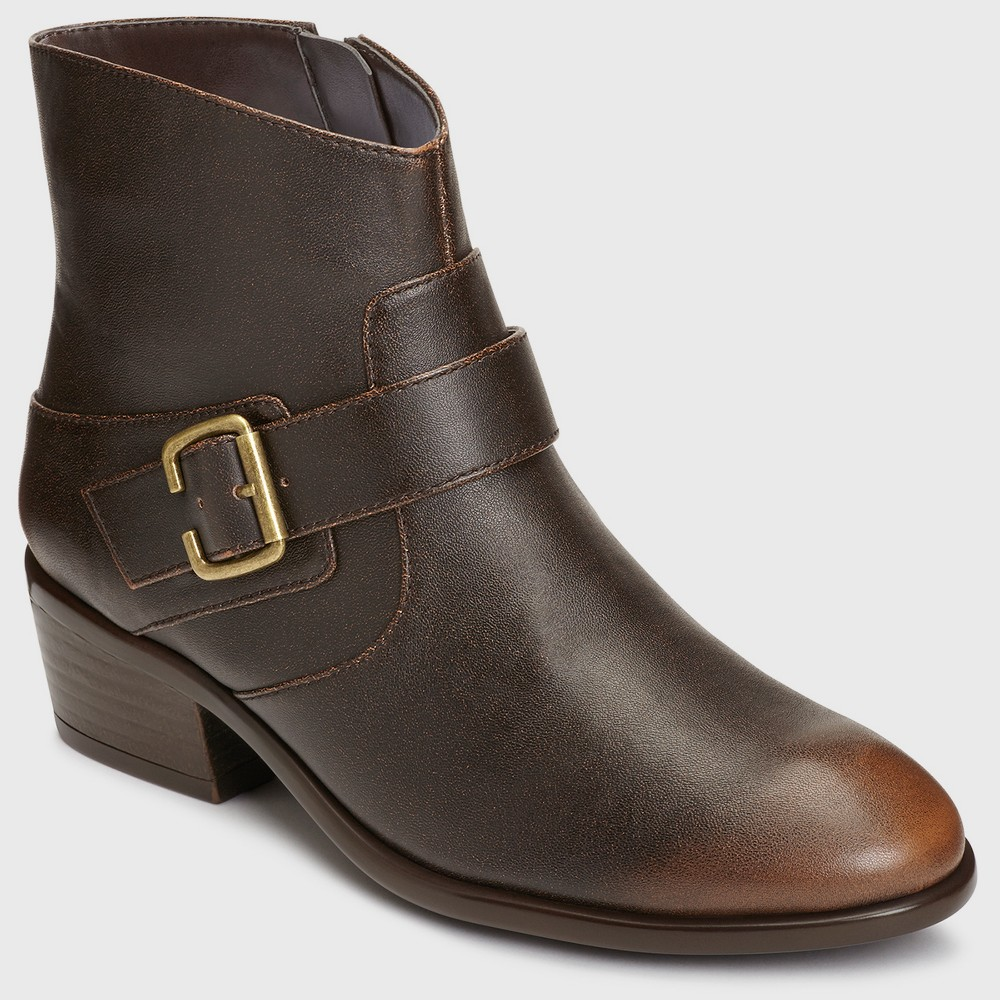 Womens A2 by Aerosoles My Way Ankle Boots - Chestnut (Brown) 11