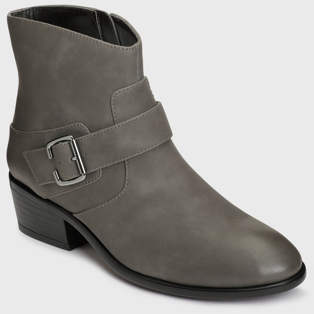 Womens A2 by Aerosoles My Way Ankle Boots - Gray 10.5