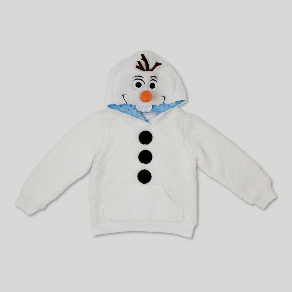 Girls Frozen Olaf Costume Hoodie - White XL